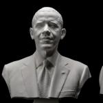 Vezi cum s-a realizat portretul 3D a lui Barack Obama